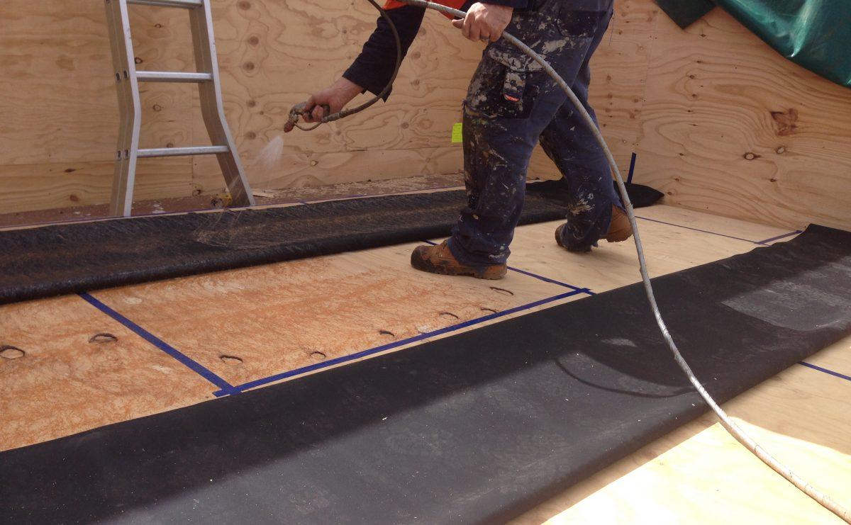 Installing Butyl Rubber